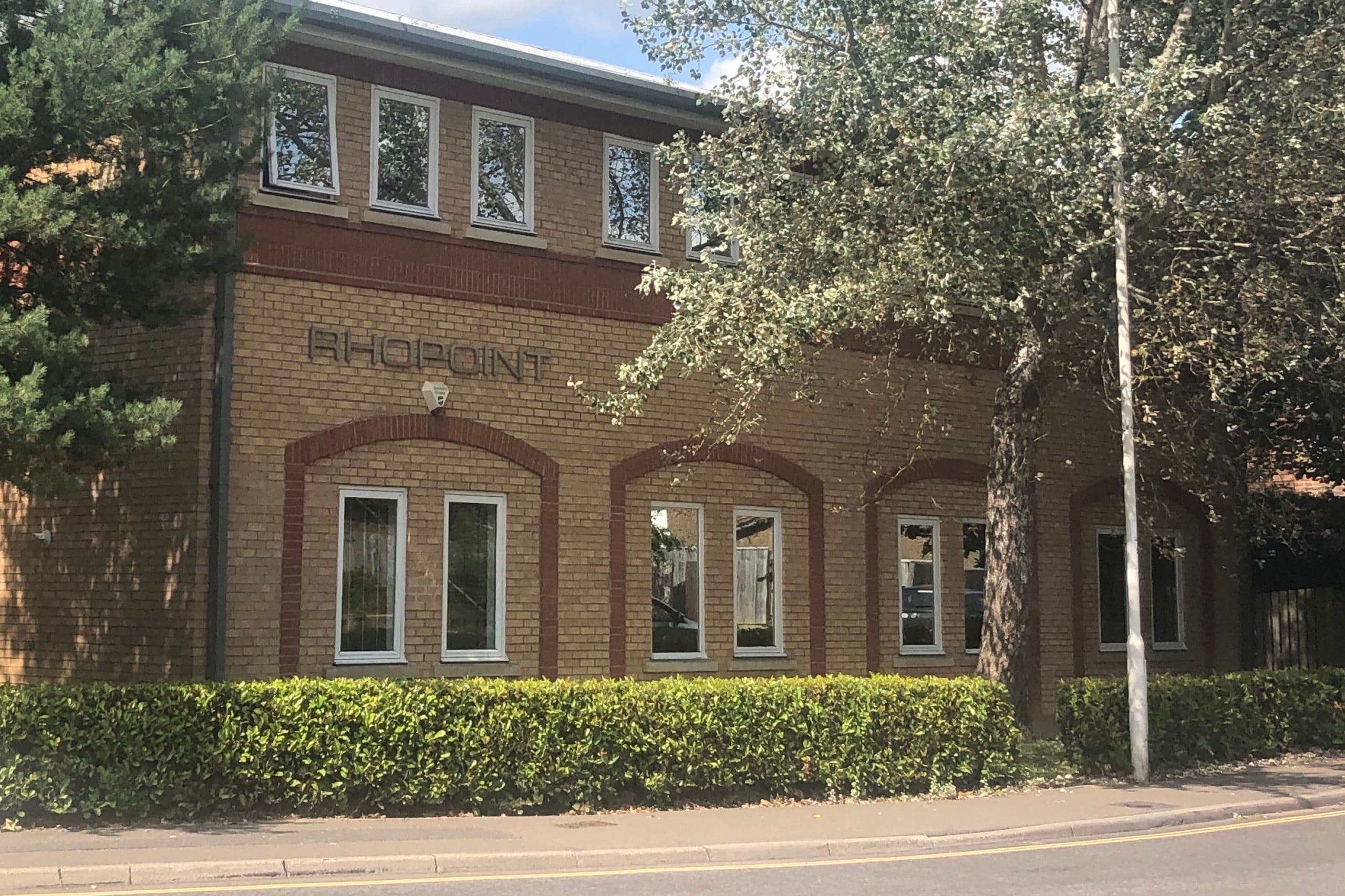 Image of the Rhopoint Holding head office building in East Grinstead, West Sussex