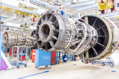 Jet engine being built using high grade space approved electronic components
